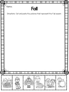 Seasons Activities and Printables
