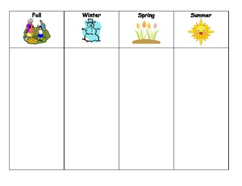 Seasons Activity Sort