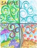 Seasons Art Project Inspired by Klimt