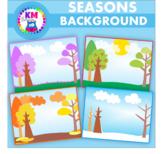 Seasons Background Scene Clipart