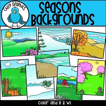 Seasons Background Scenes - Chirp Graphics