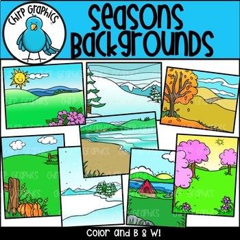 Seasons Background Scenes - Chirp Graphics