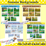 Seasons Clip art Bundle