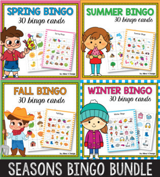 Seasons Bingo Game BUNDLE, Fall Bingo Game, Autumn Bingo
