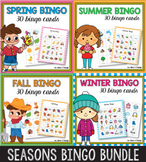 Seasons Bingo Game BUNDLE, Fall Bingo Game, Autumn Bingo