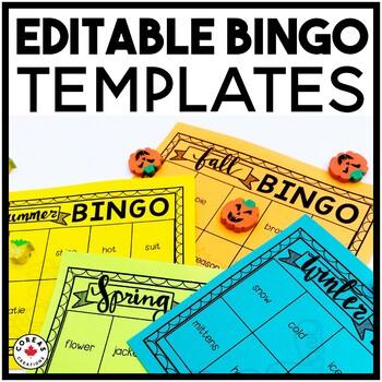 Seasons Bingo Templates | EDITABLE