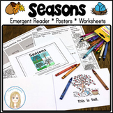 Seasons Emergent Reader with Seasons Posters, Sequencing &