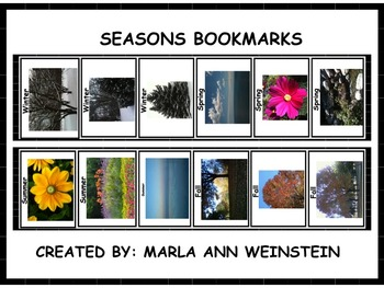 Seasons Bookmarks