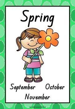 Seasons Bundle QLD Beginners Font: Worksheets, Posters, Activities