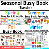 Seasons Busy Book Preschool Activity Binder (BUNDLE) - Spr