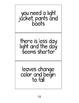 Seasons Characteristics Sorting Cards / Estaciones Spanish
