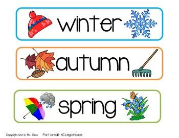 Seasons Chart for Calendar