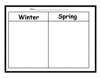 Classify & Categorize Seasons