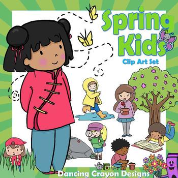 Seasons Clip Art  BUNDLE   Clipart Kids for Summer, Autumn, Winter, Spring