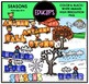 Seasons Clip Art Bundle (Color and B&W) {Educlips Clipart}