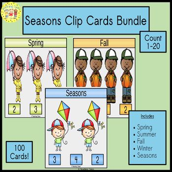 Seasons Count and Clip Cards Bundle
