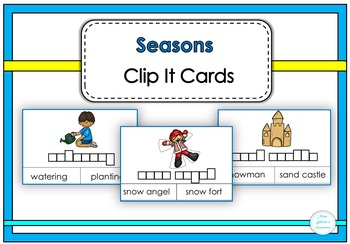 Seasons Clip It Cards