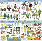 Seasons Clipart Bundle
