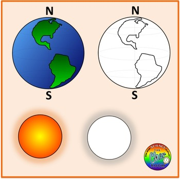 Seasons Clipart (Summer, Winter, Autumn, Spring, Earth axis, equator)