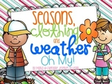 Seasons, Clothing, and Weather {Freebie}
