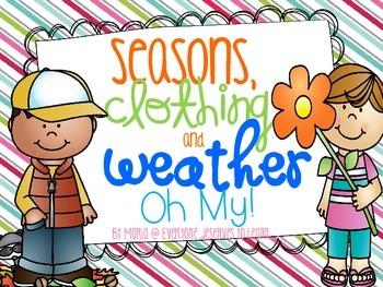 Seasons, Clothing, and Weather {Freebie}