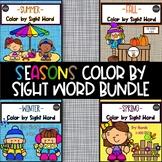 Seasons Color by Sight Word BUNDLE