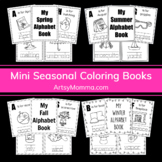Seasons Coloring Books with Words