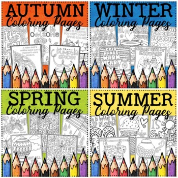Seasons Coloring Pages Bundle By Ford S Board Teachers Pay Teachers