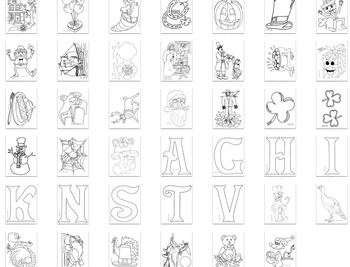 Holiday/Seasons Coloring Pages & Printables: Thanksgiving, Halloween, etc.