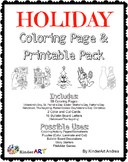 Holiday/Seasons Coloring Pages & Printables: Thanksgiving,