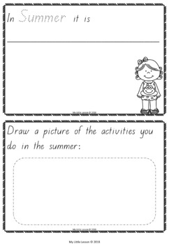 Seasons Concept Book QLD Beginners Font