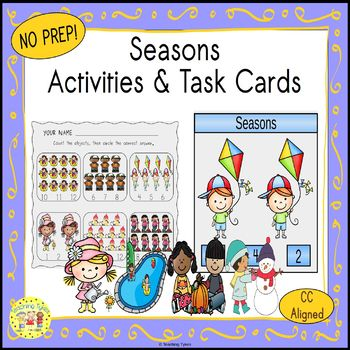 Seasons Clip Task Cards
