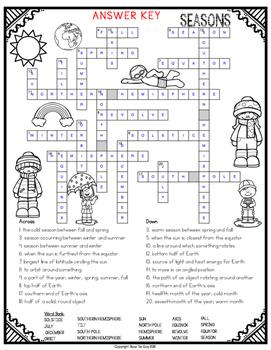 Seasons Crossword
