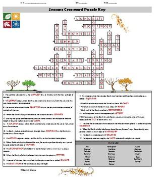 Seasons Crossword Puzzle