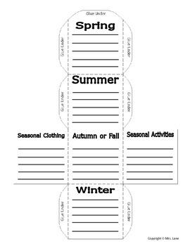 Seasons Cube Foldable