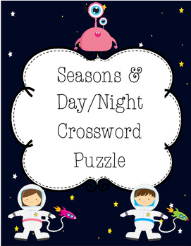 Seasons & Day/Night Crossword Puzzle