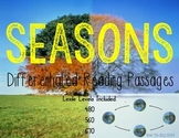 Seasons {Differentiated Close Reading Passages & Questions}