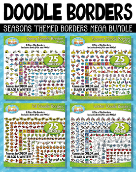 Seasons Doodle Frame Borders Mega Bundle {Zip-A-Dee-Doo-Dah Designs}