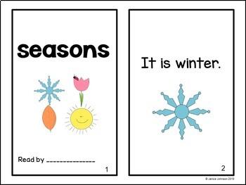 Seasons Emergent Reader Book {Young Readers, ESL, EFL}