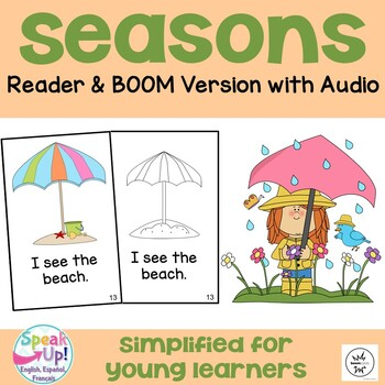 Seasons Emergent Reader Book {Young Readers, ESL, EFL}
