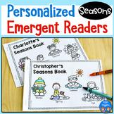 Seasons Emergent Readers - Personalized Name Books FREEBIE
