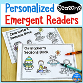 Seasons Emergent Readers - Personalized Name Books FREEBIE
