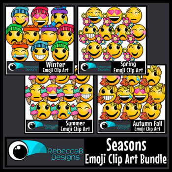 Seasons Emoji Clip Art Bundle