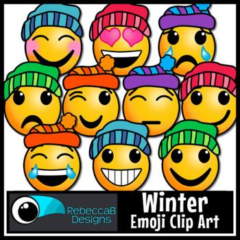 Seasons Emoji Clip Art Bundle