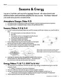 Seasons & Energy Unit Packet