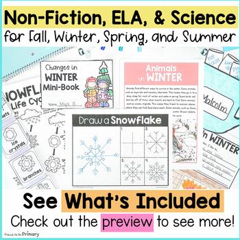 Seasons Non-Fiction ELA & Science {Fall, Winter, Spring, Summer} BUNDLE