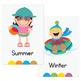 Seasons Flash Cards