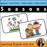 Seasons Flash Cards, Activities, and Games for English Lan