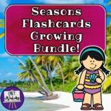Seasons Flashcards Growing Bundle!