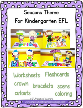 Seasons Flashcards for ELL